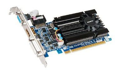 Видеокарта GIGABYTE GeForce GT 520, GV-N520TC-1GI,  512Мб, DDR3, Low Profile,  Ret