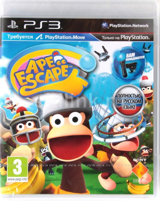 Игра SONY Ape Escape для  PlayStation3 Rus