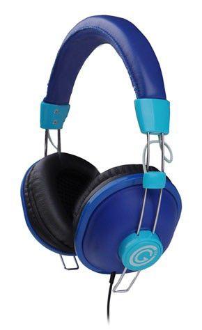 Наушники с микрофоном G-CUBE GHV-170BL,  мониторы, синий