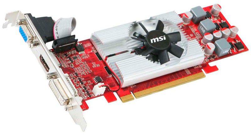 Видеокарта MSI PCI-E NV N220GT-MD512 D3 GT220 512Mb 128bit 625/810 DDR3 CRT+HDMI+DVI RTL [n220gt-md512 d3/lp]