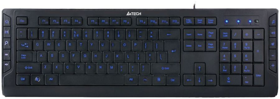Клавиатура A4 KD-600L,  USB, черный