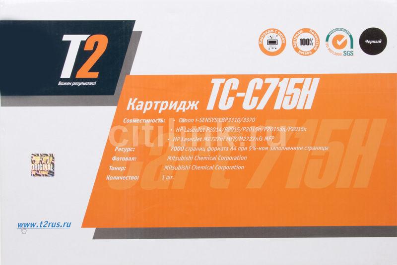 Картридж T2 TC-C715H (715H) черный