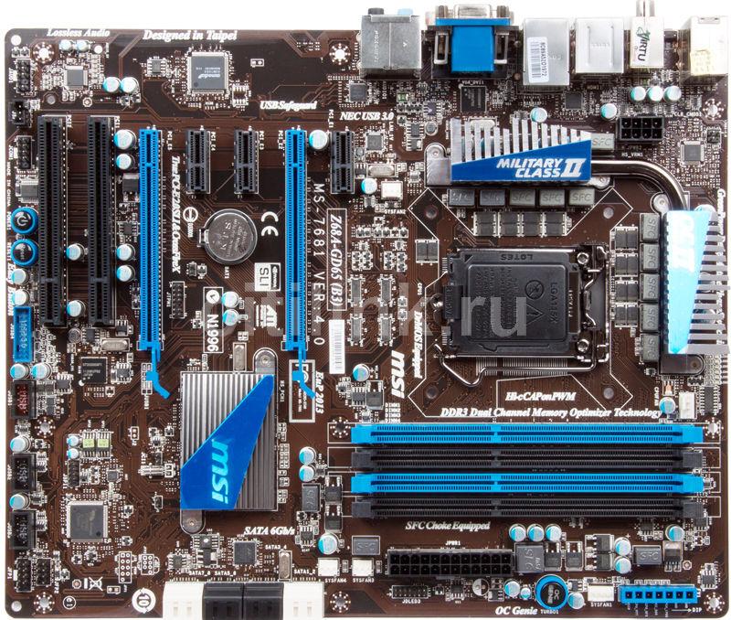 Материнская плата MSI Z68A-GD65 (B3) LGA 1155, ATX, Ret