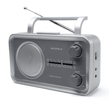 Радиоприемник SUPRA ST-102,  серебристый