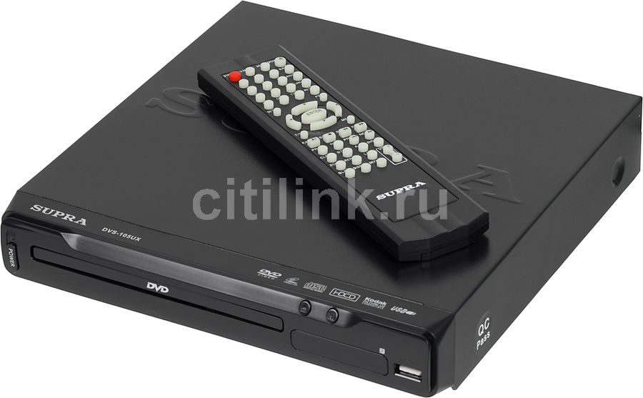 DVD-плеер SUPRA DVS-105UX,  черный