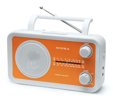 Радиоприемник SUPRA ST-102,  оранжевый
