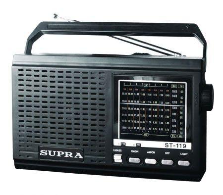 Радиоприемник SUPRA ST-119,  черный