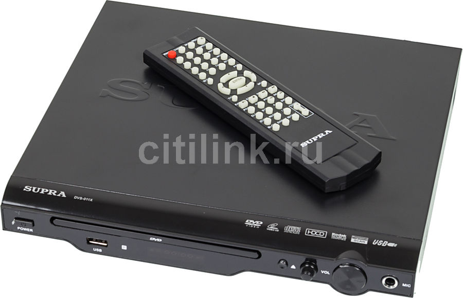 DVD-плеер SUPRA DVS-011X,  черный