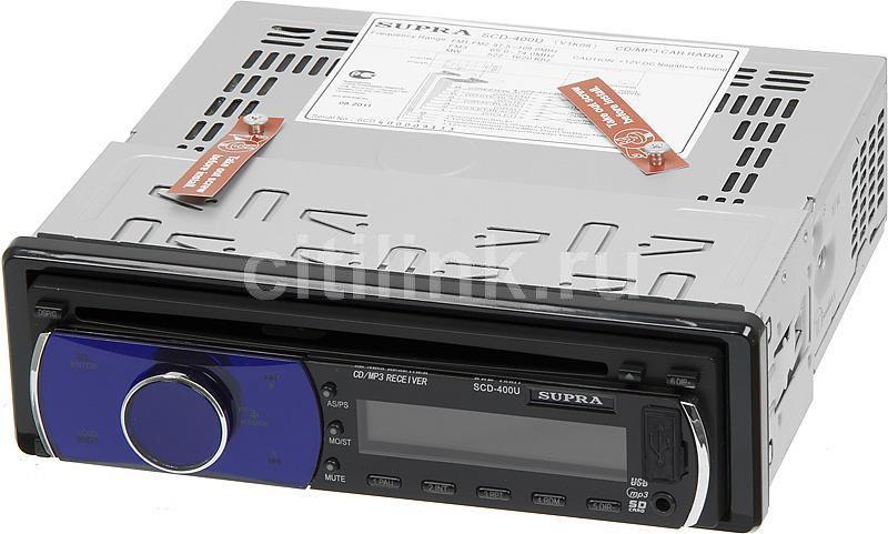 Автомагнитола SUPRA SCD-400U,  USB,  SD/MMC