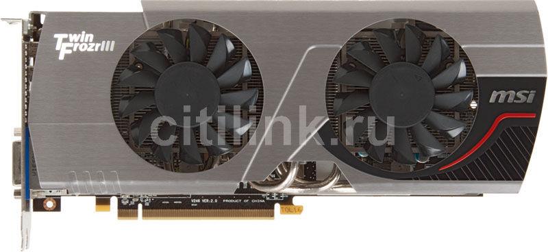 Видеокарта MSI Radeon HD 6950,  1Гб, GDDR5, OC,  Ret [r6950 twin frozr iii1gd5 pe/oc]