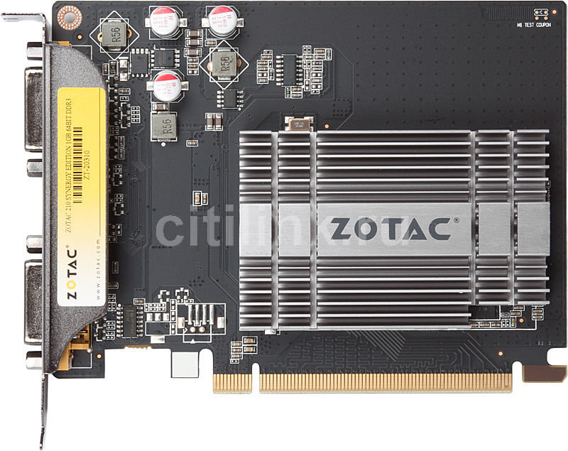 Видеокарта ZOTAC GeForce 210 Synergy Edition, ZT-20310-10L,  1Гб, DDR3, Ret