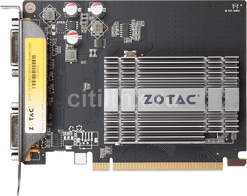 Видеокарта ZOTAC GeForce 210,  1Гб, DDR3, Ret [zt-20310-10l]