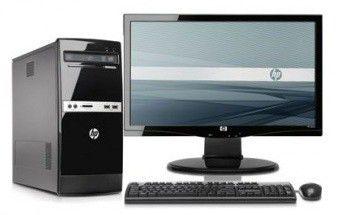 Компьютер  HP 500B + монитор S2031a (комплект),  Intel  Celeron  E3400,  DDR3 2Гб, 500Гб,  Intel GMA 4500,  DVD-RW,  Free DOS,  черный [lg993ea]