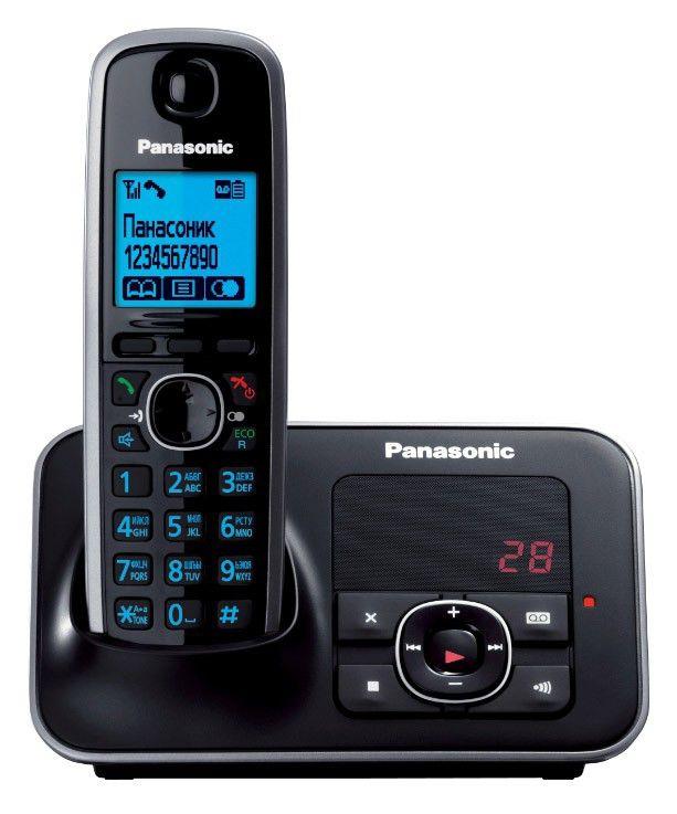 Радиотелефон PANASONIC KX-TG6621RUB,  черный