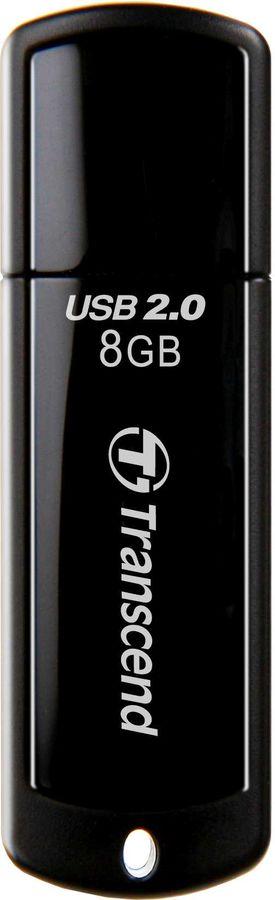 Флешка USB TRANSCEND Jetflash 350 8Гб, USB2.0, черный [ts8gjf350]