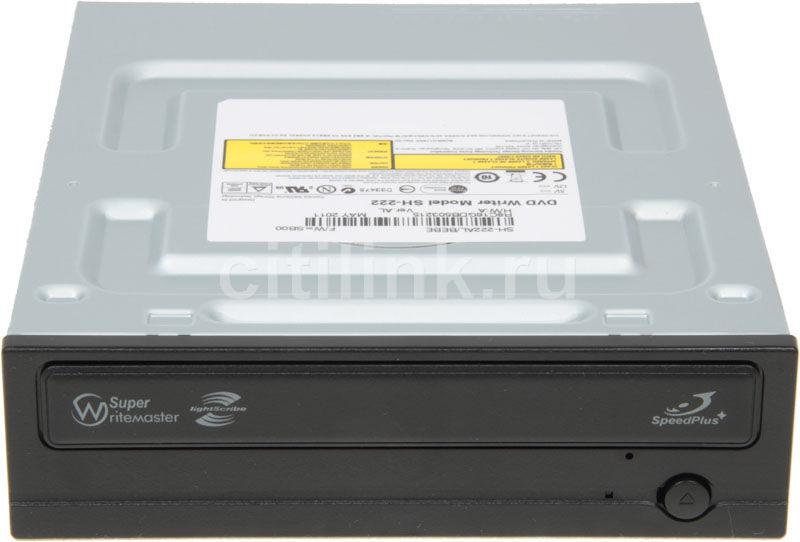 Оптический привод DVD-RW SAMSUNG SH-222AL/BEBE, внутренний, SATA, черный,  OEM