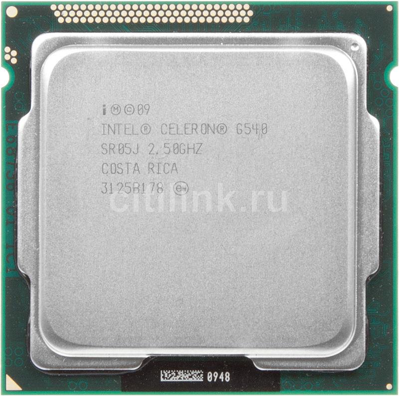 Процессор INTEL Celeron Dual-Core G540, LGA 1155 OEM [cm8062301046804s r05j]