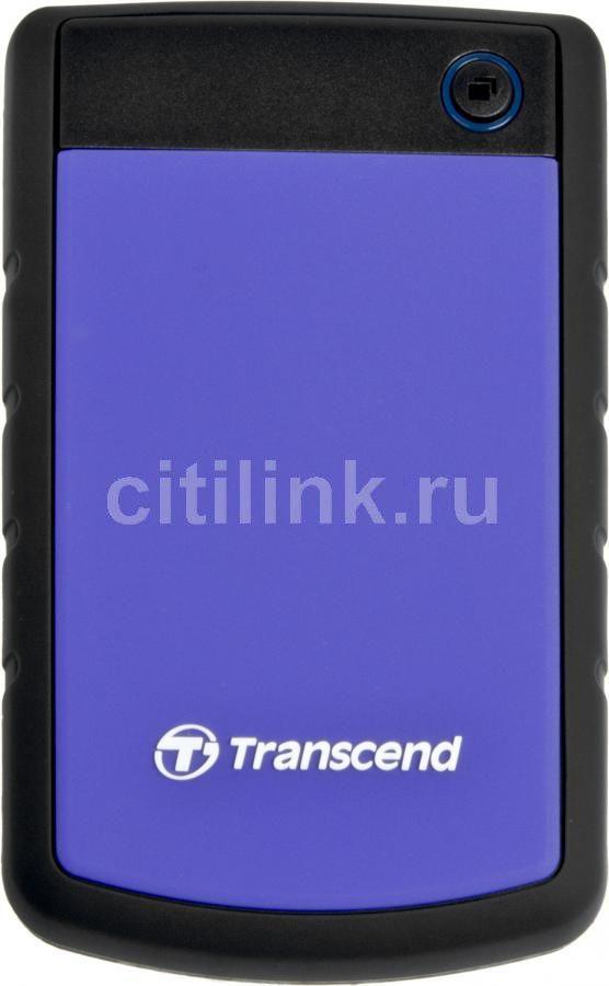 Внешний жесткий диск TRANSCEND StoreJet 25H2P TS750GSJ25H3P, 750Гб, фиолетовый