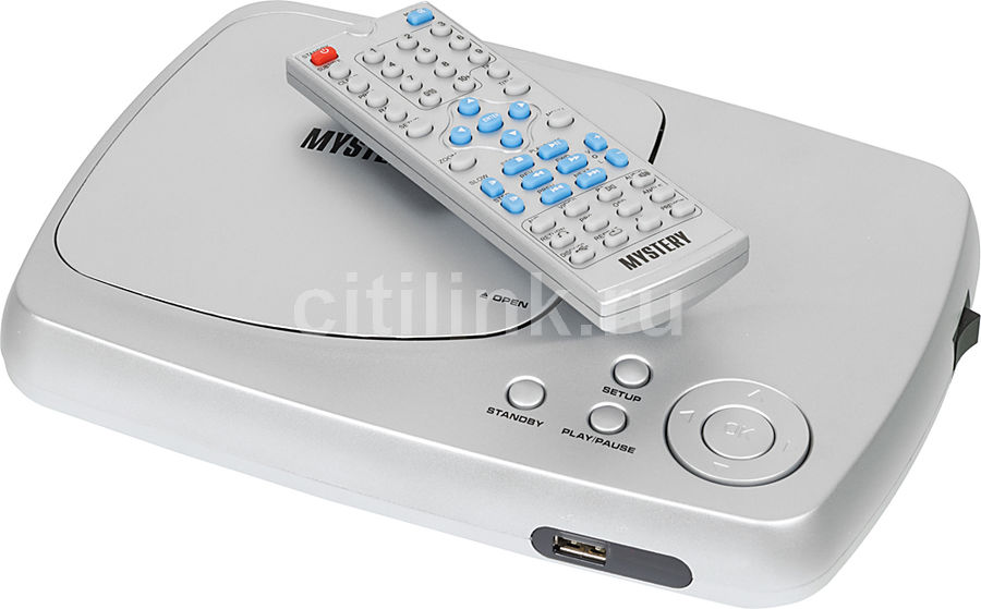DVD-плеер MYSTERY MDV-621U,  серебристый