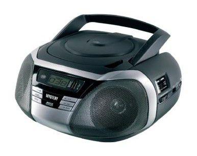 Аудиомагнитола MYSTERY BM-6105U,  черный и серебристый