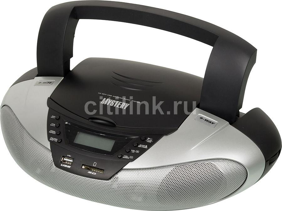 Аудиомагнитола MYSTERY BM-6108U,  серый
