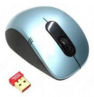 Мышь A4 G7-630N-2 оптическая беспроводная USB, голубой