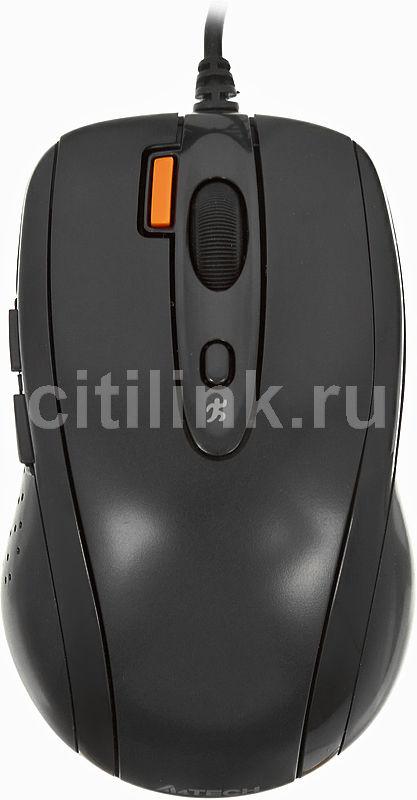 Мышь A4 V-Track Padless N-70FX оптическая проводная USB, черный