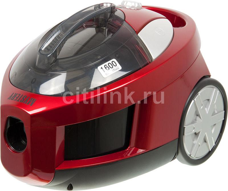 Пылесос MYSTERY MVC-1103, 1600Вт, красный/черный