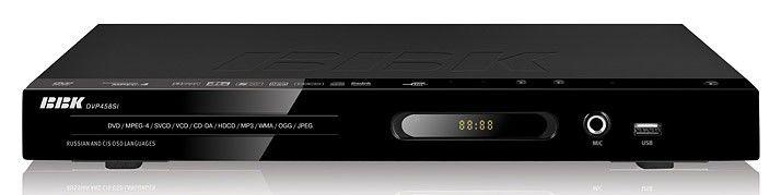 DVD-плеер BBK DVP458SI,  черный,  диск 500 песен