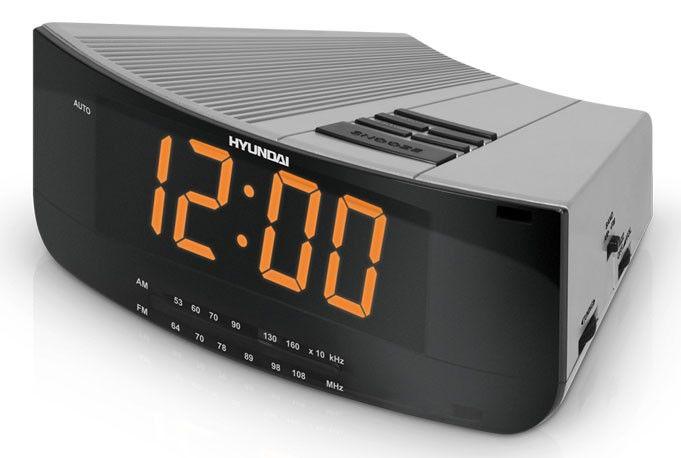 Радиобудильник HYUNDAI H-1527, серебристый