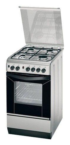 Газовая плита INDESIT KN1G217 SX/RU,  газовая духовка,  серебристый
