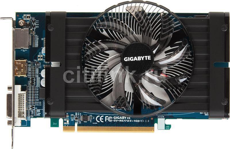 Видеокарта GIGABYTE Radeon HD 6770,  1Гб, GDDR5, Ret [gv-r677d5-1gd]