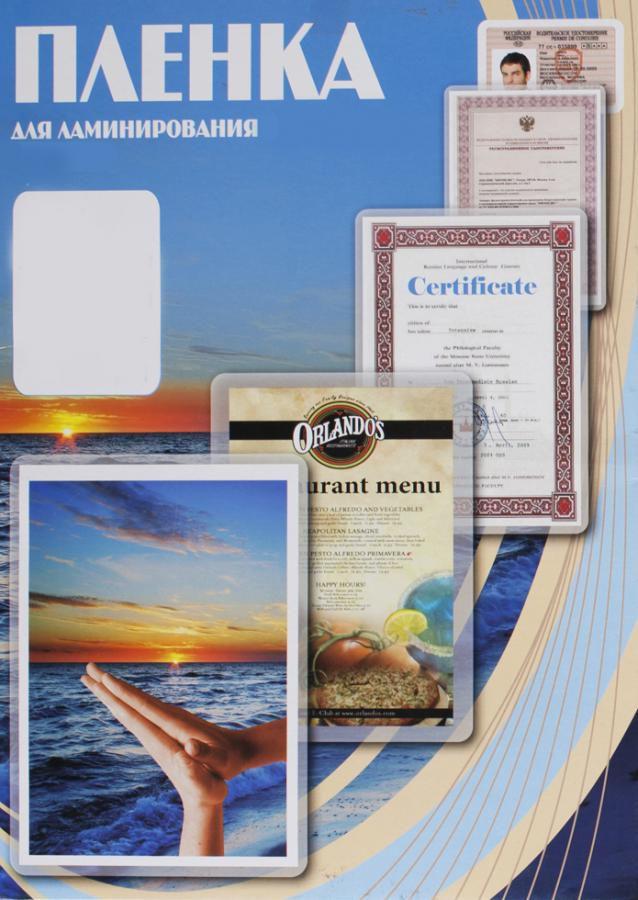 Пленка для ламинирования OFFICE KIT Office Kit,  250мкм,  111х154 мм,  100шт.,  глянцевая,  A6