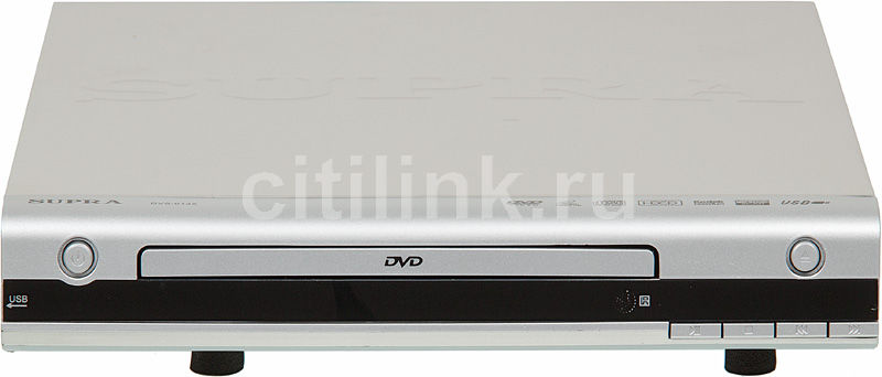DVD-плеер SUPRA DVS-013X,  серебристый