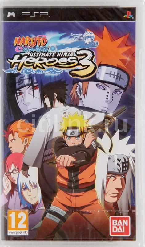 Игра SONY Naruto Shippuden: Ultimate Ninja Heroes 3 для  PSP Eng