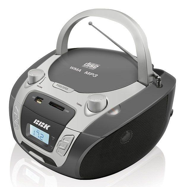 Аудиомагнитола BBK BX512U,  серый