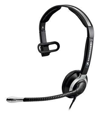 Моно гарнитура SENNHEISER CC 515 IP,  накладные, черный  / серебристый [504015]