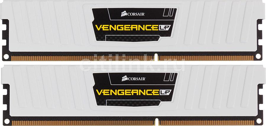 Модуль памяти CORSAIR Vengeance CML8GX3M2A1600C9W DDR3L -  2x 4Гб 1600, DIMM,  Ret,  низкопрофильная