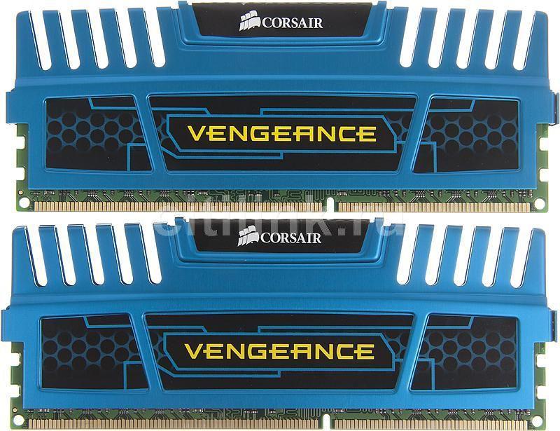 Модуль памяти CORSAIR Vengeance CMZ8GX3M2A1600C9B DDR3 -  2x 4Гб 1600, DIMM,  Ret