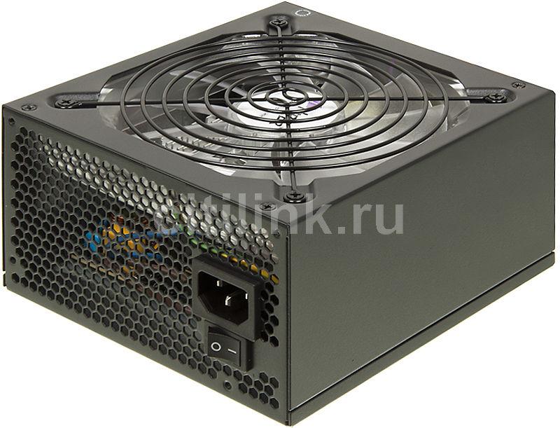 Блок питания HIPER V600,  600Вт,  140мм,  черный, retail