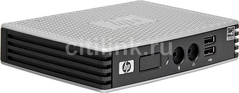 Тонкий клиент  HP t5335z,  Marvell  Armada  510,  DDR3 1Гб, без ODD,  noOS,  серебристый и черный [xw887aa]
