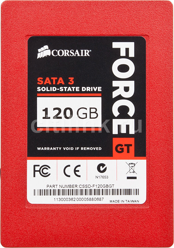 Накопитель SSD CORSAIR Force CSSD-F120GBGT-BK 120Гб, 2.5