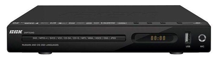 DVD-плеер BBK DVP753HD,  черный,  диск 500 песен