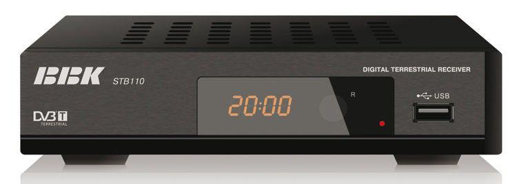 Ресивер DVB-T BBK STB110,  черный