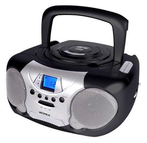 Аудиомагнитола SUPRA BB-CD102,  серый