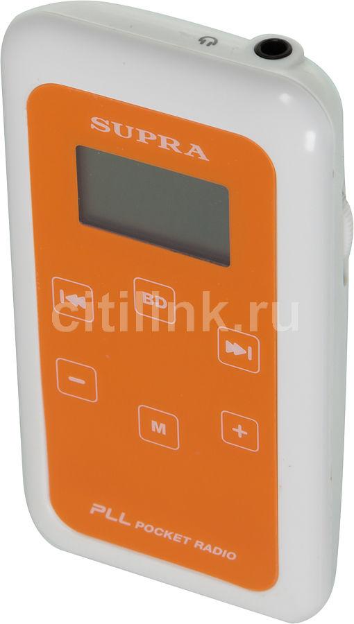 Радиоприемник SUPRA ST-104,  оранжевый