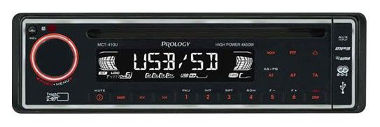 Автомагнитола PROLOGY MCT-410U,  USB,  SD