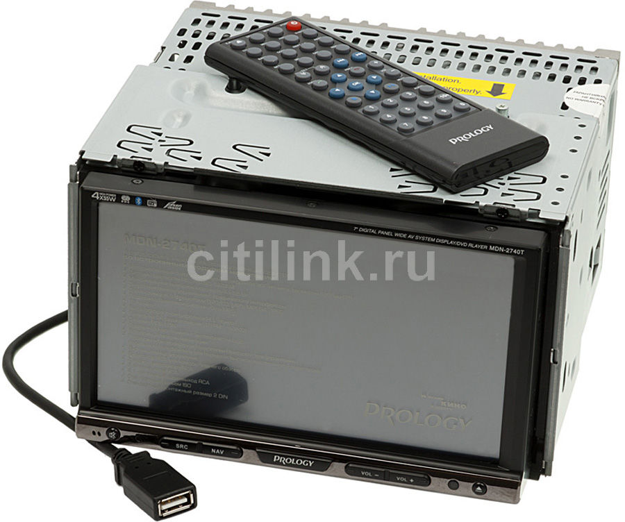 Автомагнитола PROLOGY MDN-2740T BR,  USB,  SD