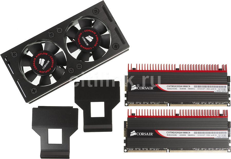Модуль памяти CORSAIR DOMINATOR GT CMT8GX3M2A1866C9 DDR3 -  2x 4Гб 1866, DIMM,  Ret