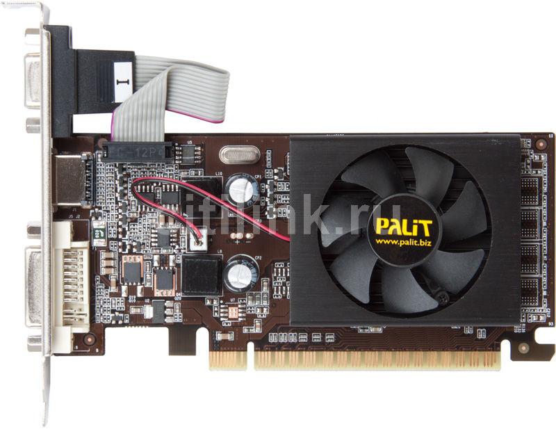 Видеокарта PALIT GeForce 210,  PA-210-512D3,  512Мб, DDR3, Low Profile,  oem [neag2100hd53-1196f bulk]